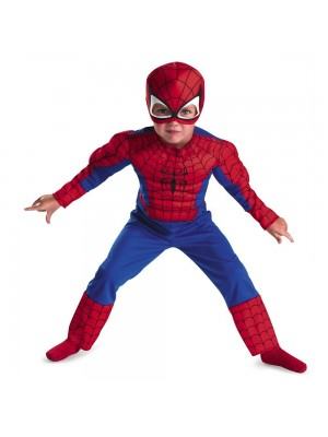 Disguise Marvel Spider-Man Toddler Muscle Costume, Large/4-6