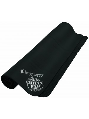 """Frogg Toggs Chilly Pad Cooling Towel,32.5""""x12.5"""",Black"""