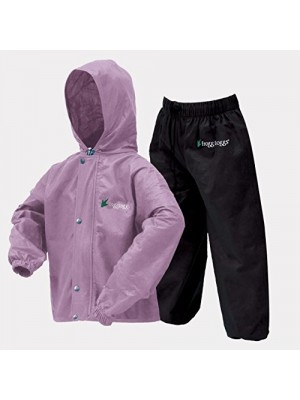 Frogg Toggs Classic Pollywogg Kids Rain Suit (purple, Small)