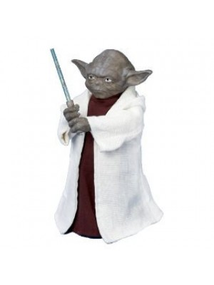 Kurt Adler SW9902 Star Wars Yoda with LED Light Saber 12-Inch Tree Topper