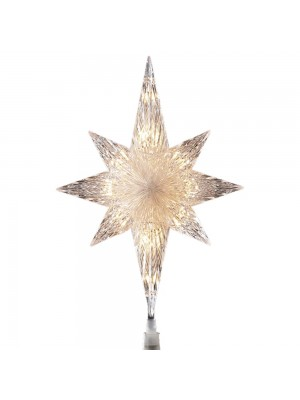Kurt Adler 10 Light Indoor 11-Inch Bethlehem Star Treetop