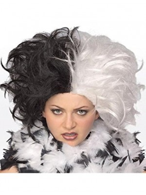 Rubie's Costume Ms. Spot Wig, Black/White, One Size