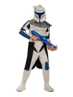 Star Wars Clone Wars Clone Trooper Child's Captain Rex Costume, Medium