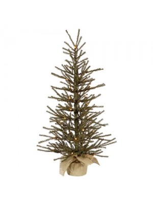 """Vickerman 24"""" Vienna Twig Artificial Christmas Tree with 20 Clear Lights"""