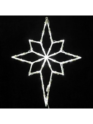 Vickerman Lighted LED Star of Bethlehem Christmas Window Silhouette Decoration, 18""