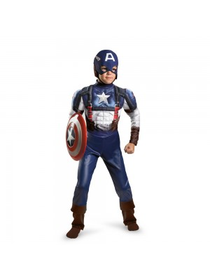 Captain America Movie Classic Muscle Costume - Small (4-6)