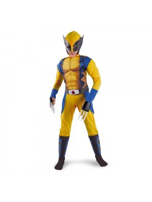Classic X-Men Wolverine Muscle Child Costume - MEDIUM (7/8)