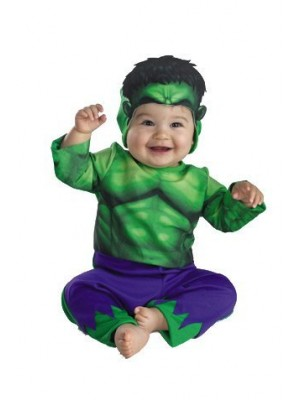 Marvel The Incredible Hulk Costume,Green/Purple,18 M