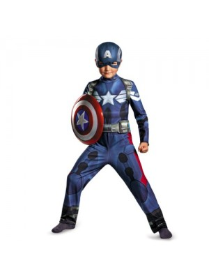 Disguise Marvel Captain America The Winter Soldier Movie 2 Captain America Classic Boys Costume, Small (4-6)