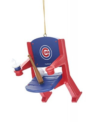 Stadium Chair Ornament, Chicago Cubs