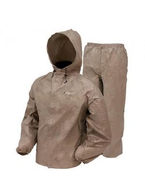 Frogg Toggs Men's Ultra Lite Rain Suit, Khaki, Medium