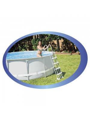 Intex Deluxe Pool Ladder with Removable Steps for 48-Inch and 52-Inch Wall Height Above Ground Pools