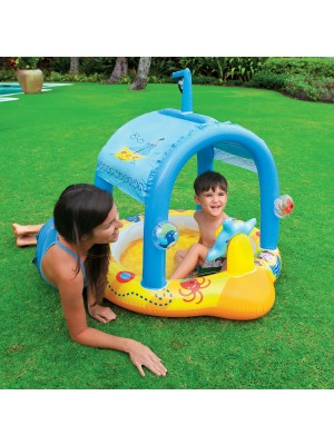 """Intex Lil' Captain Inflatable Baby Pool, 42"""" X 40"""" X 39"""", for Ages 1-3"""