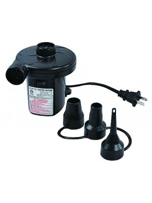 Portable Electric Air Pump for Inflatables - 120 Volt Ac Quick-fill Design with Three Nozzles