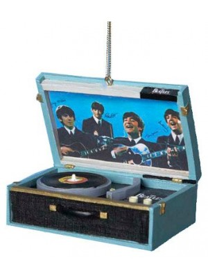 Beatles Replica Record Player 2 3/4-Inch Ornament