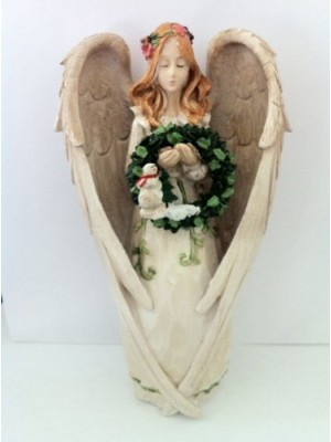 Angel Figurine with 5 Seasonal Wreaths