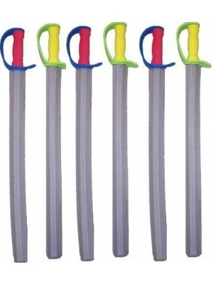 6 Foam Swords (colors may vary)