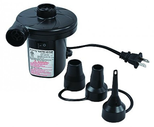 Portable electric air pump for inflatables 120 volt ac for Quick up pool 120 hoch